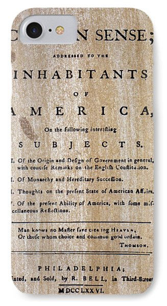 Paine: Common Sense, 1776 IPhone Case