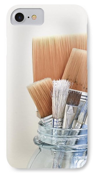 Paint Brushes In Jar IPhone Case
