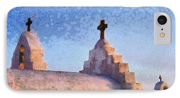 Panagia Paraportiani Church In Mykonos Island Phone Case by George Atsametakis