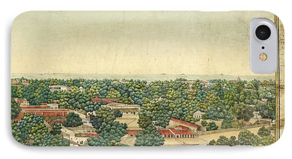 Panorama Of Delhi IPhone Case by British Library