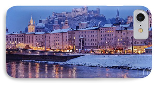 Panorama Of Salzburg In The Winter Phone Case by Sabine Jacobs
