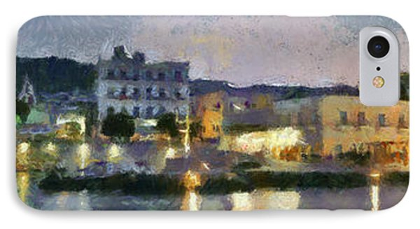 Panoramic View Of Spetses Town IPhone Case