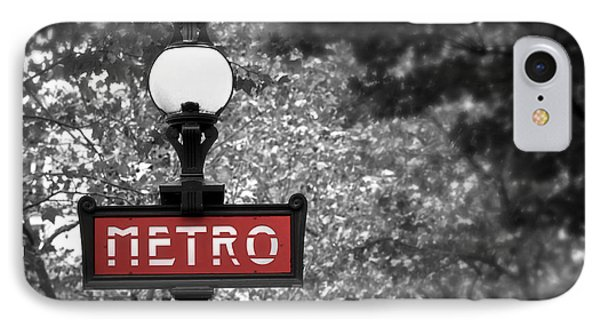 Paris Metro IPhone Case by Elena Elisseeva