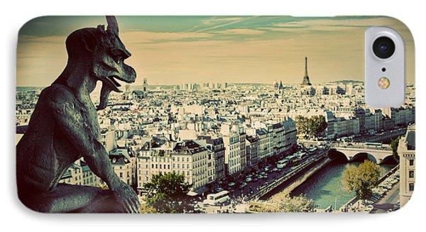 Paris Panorama France Phone Case by Michal Bednarek
