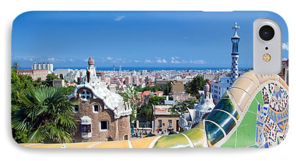 Park Guell In Barcelona Phone Case by Michal Bednarek