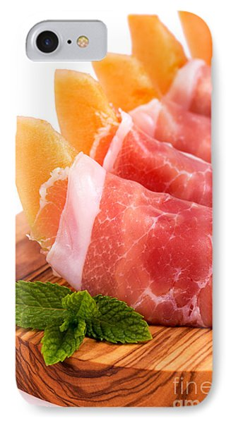 Parma Ham And Melon Phone Case by Jane Rix