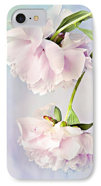 Pastel Peonies IPhone Case by Theresa Tahara