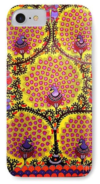 Peacocks-madhubani Paintings IPhone Case