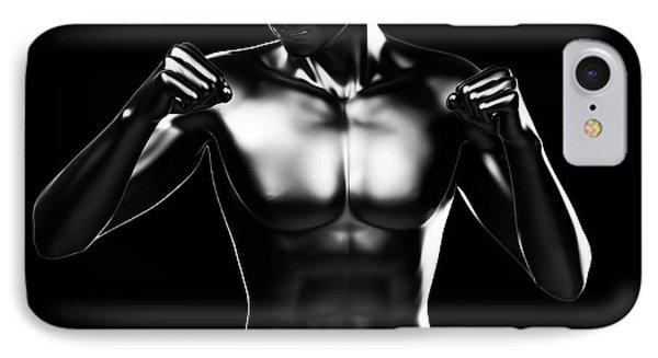Person Boxing IPhone Case by Sebastian Kaulitzki
