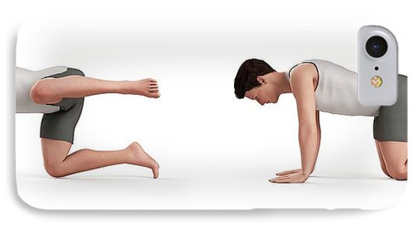 Person Exercising IPhone Case by Sebastian Kaulitzki