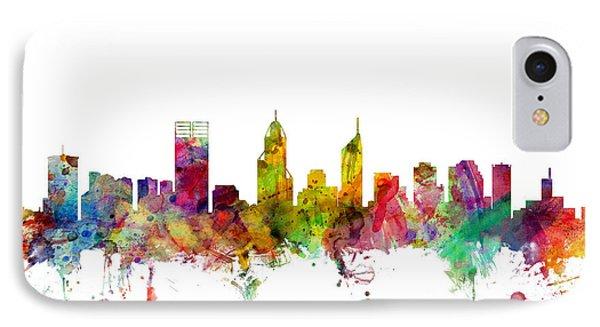 Perth Australia Skyline IPhone Case by Michael Tompsett