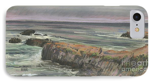 IPhone Case featuring the painting Pescadero Beach by Donald Maier