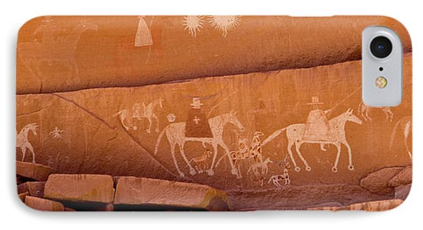 Petroglyphs On Sandstone, Canyon De IPhone Case by Panoramic Images