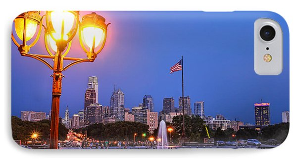 Philadelphia At Dusk IPhone Case by Olivier Le Queinec
