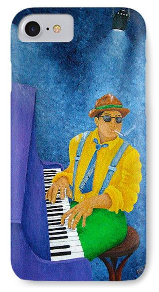 Piano Man Phone Case by Pamela Allegretto