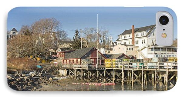 Pier In Tenants Harbor Maine IPhone Case