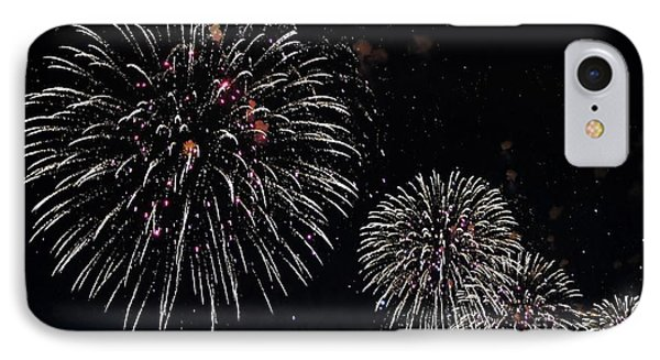 IPhone Case featuring the photograph Pink Fireworks by Lilliana Mendez