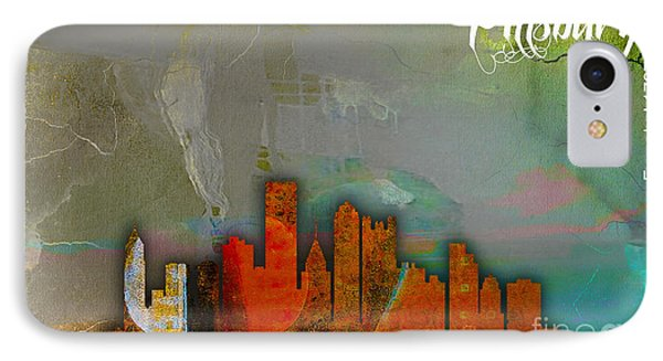 Pittsburgh Skyline Watercolor IPhone Case