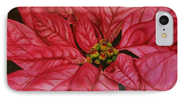 Poinsettia IPhone Case by Marna Edwards Flavell