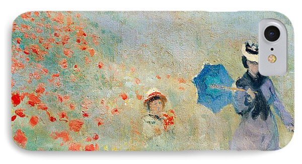 Poppies At Argenteuil IPhone Case by Claude Monet