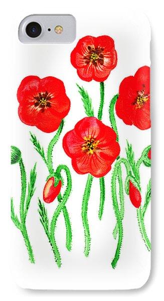 Poppies Phone Case by Irina Sztukowski