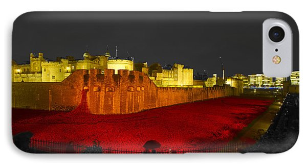 Poppies Tower Of London Night   IPhone Case
