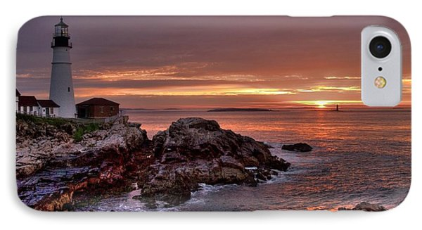 Portland Head Lighthouse Sunrise Phone Case by Alana Ranney