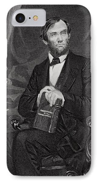Portrait Of Abraham Lincoln Phone Case by Alonzo Chappel