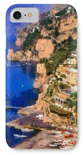 Positano Town In Italy IPhone Case