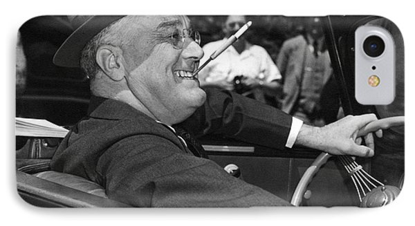 President Franklin Roosevelt IPhone Case by Underwood Archives