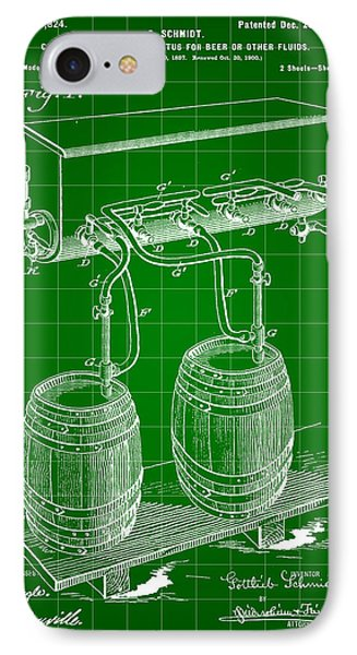 Pressure Apparatus For Beer Patent 1897 - Green IPhone Case by Stephen Younts