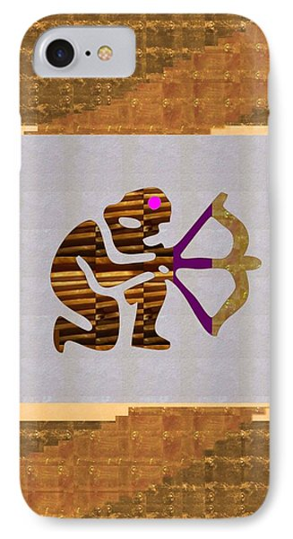 Pure Decorations Zodiac Symbols In An Artistic Setting IPhone Case by Navin Joshi