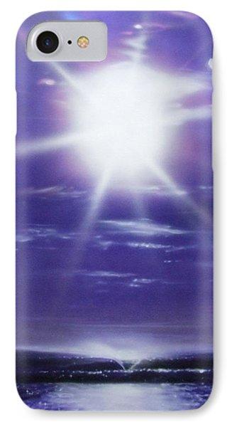 Ocean - ' Purple Aura ' IPhone Case by Christian Chapman Art