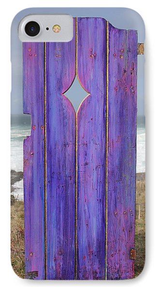 Purple Gateway To The Sea Phone Case by Asha Carolyn Young