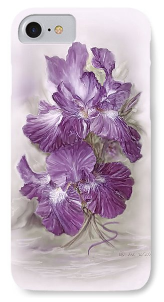 Purple Iris IPhone Case by Bonnie Willis