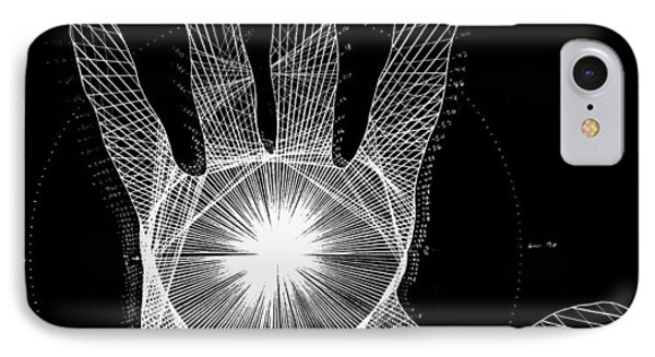 Quantum Hand Through My Eyes IPhone Case by Jason Padgett