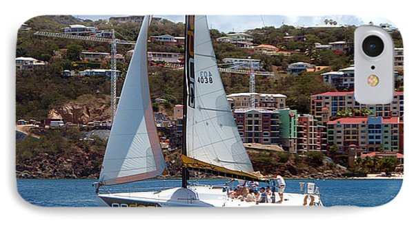 Racing At St. Thomas 1 IPhone Case by Tom Doud