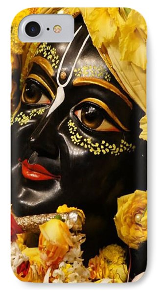 Radha Krishna Idol Hinduism Religion Religious Spiritual Yoga Meditation Deco Navinjoshi  Rights Man IPhone Case by Navin Joshi