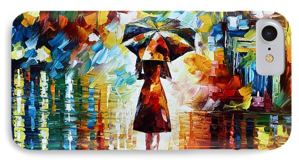 Rain Princess - Palette Knife Landscape Oil Painting On Canvas By Leonid Afremov IPhone Case by Leonid Afremov