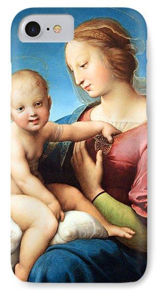 Raphael's The Niccolini Cowper Madonna IPhone Case by Cora Wandel