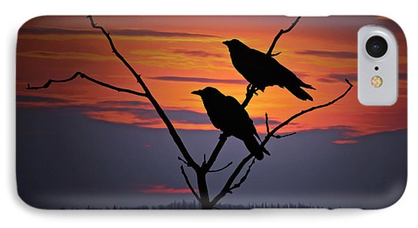 2 Ravens IPhone Case