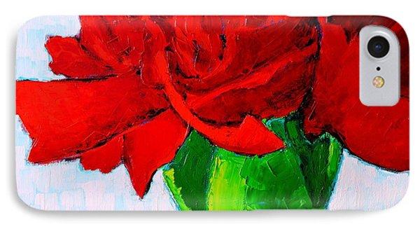 Red Carnation Phone Case by Ana Maria Edulescu