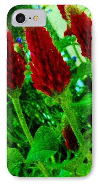 Red Clovers IPhone Case by Xueyin Chen