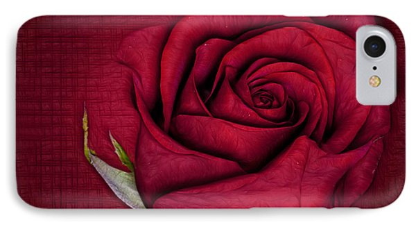 IPhone Case featuring the photograph Red Rose by Shirley Mangini