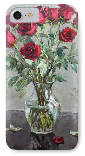 Red Roses IPhone Case by Ylli Haruni