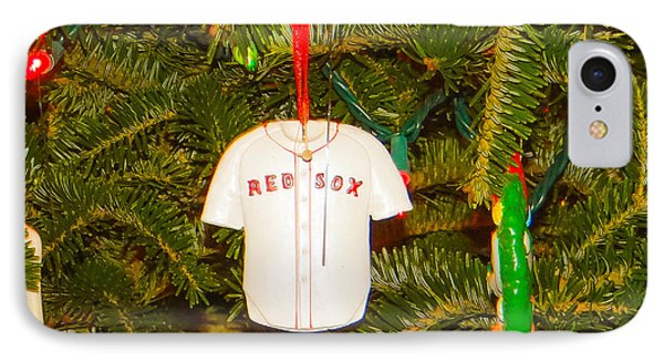 Red Sox IPhone Case by Dennis Dugan