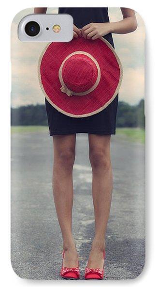 Red Sun Hat Phone Case by Joana Kruse