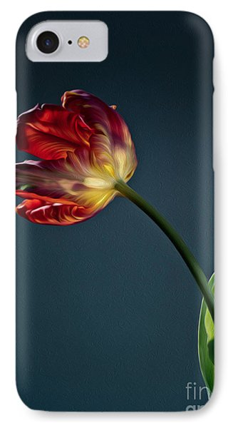 Tulip iPhone 7 Case - Red Tulip by Nailia Schwarz