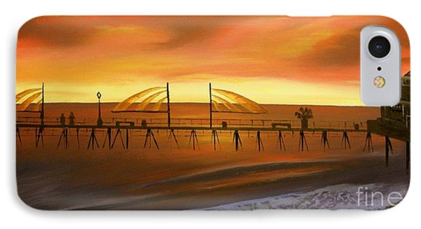 Redondo Beach Pier At Sunset Phone Case by Bev Conover