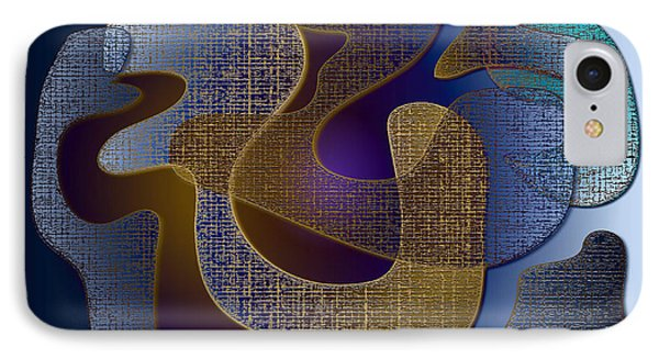 IPhone Case featuring the digital art Relaxing Shapes by Iris Gelbart